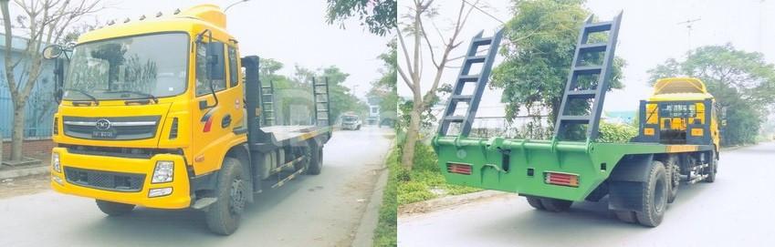 Xe TMT 3 chân 13 tấn nâng đầu chở máy công trình TMT KC240150T