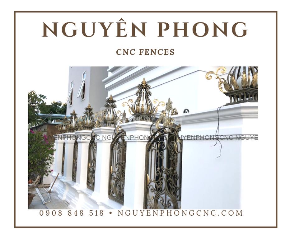 Các mẫu hàng rào sắt mỹ thuật 2020 tại Nguyên Phong (ảnh 8)