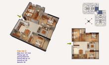 Căn hộ số 09 tòa R4, tầng cao, thiết kế châu Âu chung cư Goldmark City