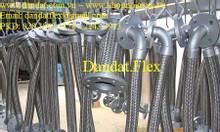 Khớp nối mềm kết nối mặt bích + congzin  - ống nối mềm inox