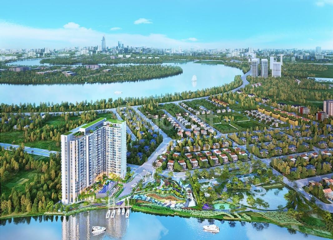 Bán căn hộ văn phòng dự án Thủ Thiêm Dragon, dt 46m2, chênh 100 triệu