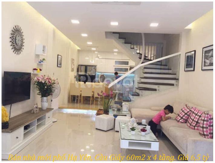 Bán nhà mới phố Hạ Yên, Cầu Giấy 60m2 x 4 tầng.