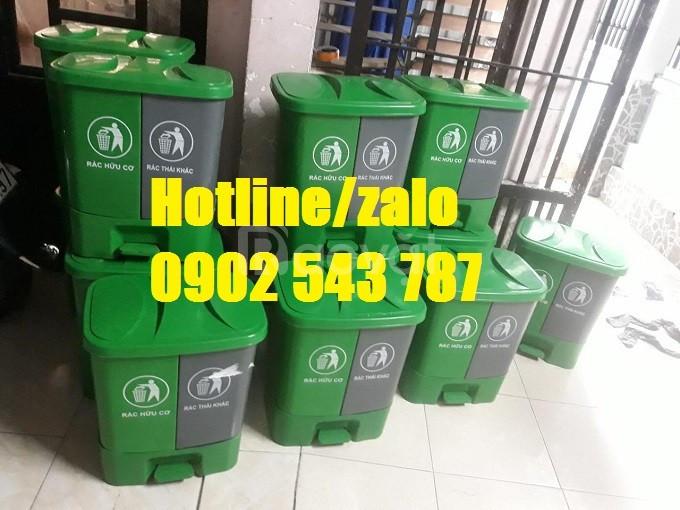 Phân phối sỉ thùng rác 2 ngăn 40l, thùng đựng rác 2 ngăn 40 lít (ảnh 5)