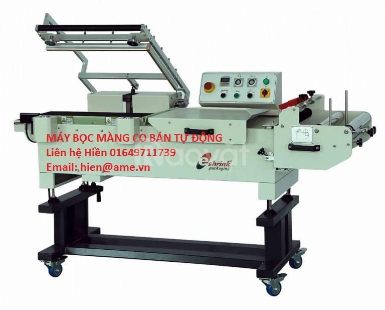 Máy co màng POF bán tự động, máy bọc màng co giá tốt được ưa chuộng