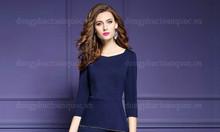 Xưởng may váy liền công sở chất liệu cao cấp mang lại cảm giác thoải