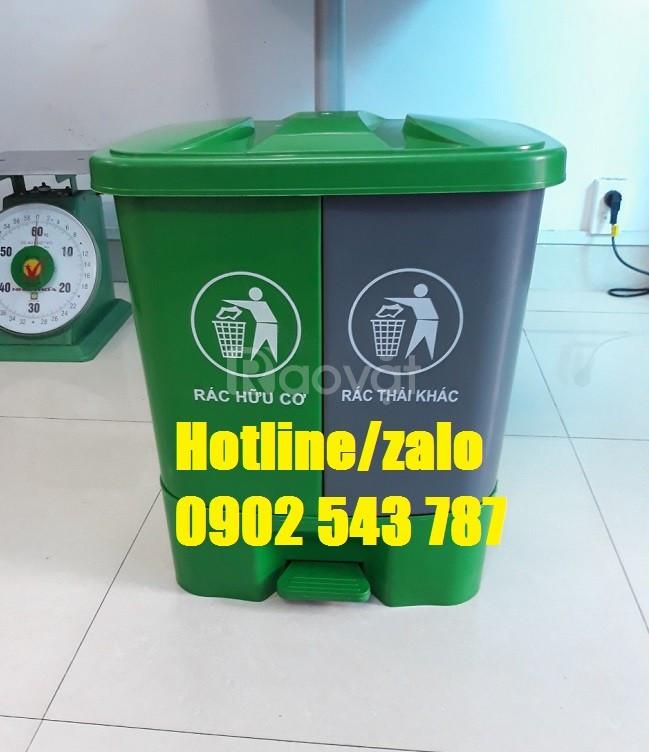 Phân phối sỉ thùng rác 2 ngăn 40l, thùng đựng rác 2 ngăn 40 lít (ảnh 4)
