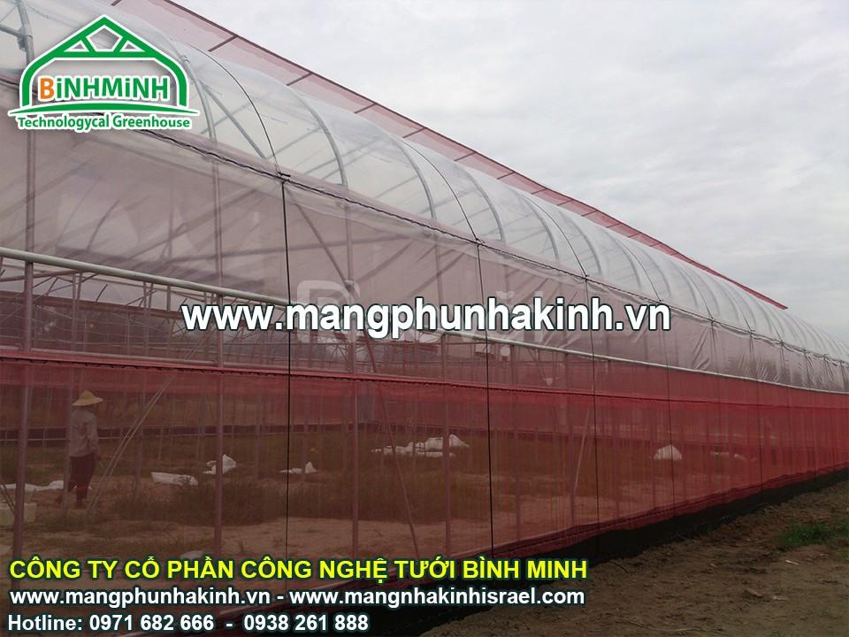 Nhà lưới bình minh,  Lưới chắn côn trùng bình minh,công ty sản xuất