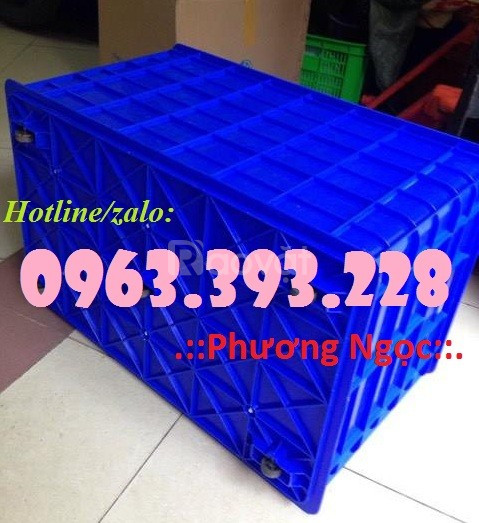 Thùng nhựa đặc công nghiệp, thùng đặc có bánh xe, thùng chứa hàng