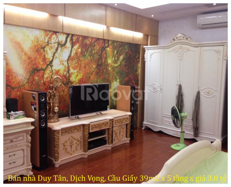 Bán nhà Duy Tân, Dịch Vọng, Cầu Giấy 39m2 x 5 tầng giá 3.8 tỷ