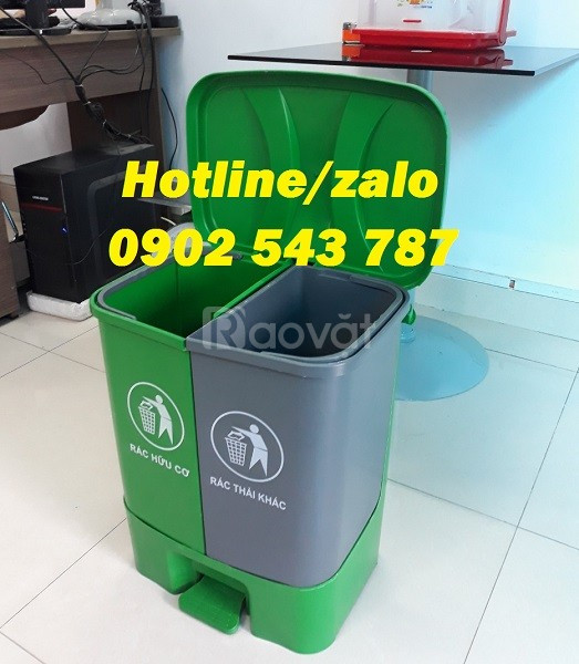 Phân phối sỉ thùng rác 2 ngăn 40l, thùng đựng rác 2 ngăn 40 lít (ảnh 8)