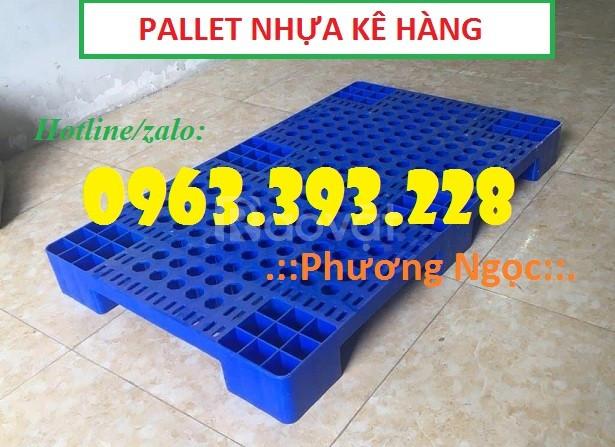 Pallet nhựa kê hàng, pallet dùng cho xe nâng, pallet cao cấp (ảnh 1)