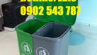 Phân phối sỉ thùng rác 2 ngăn 40l, thùng đựng rác 2 ngăn 40 lít (ảnh 1)