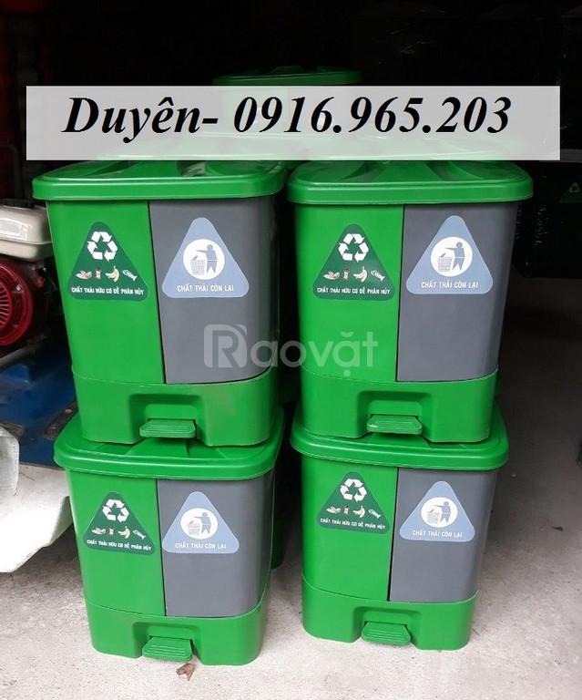Thùng rác y tế 2 ngăn dùng trong bệnh viện