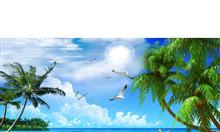 Tranh 3d - gạch tranh 3d thuận buồm xuôi gió