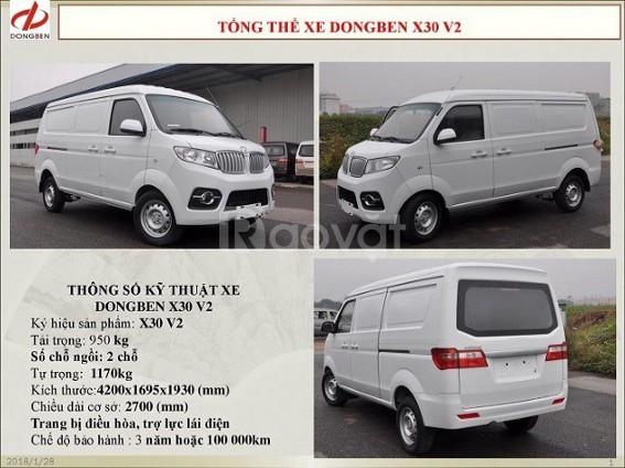 Xe tải van Dongben x30 5 chỗ vào thành phố 24/24