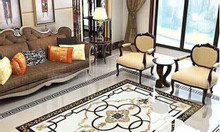 Gạch sàn hoa phòng khách