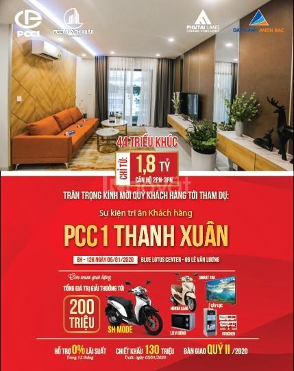 Sự kiện chi ân khách hàng ngày 05/01/2020 dự án PCC1 quà tặng 200tr