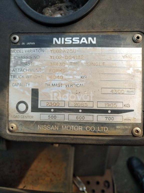 Thanh lý xe nâng dầu NISSAN model YL02A25U