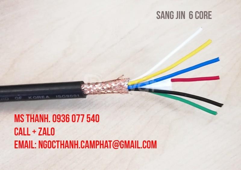Cáp điều khiển 6x0.75 mm2 Sangjin, cáp tín hiệu có lưới chống nhiễu SJ