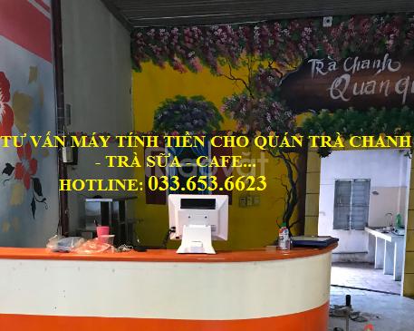 Bánmáy tính tiền cho quán trà chanh, trà sữatại Vĩnh Phúc