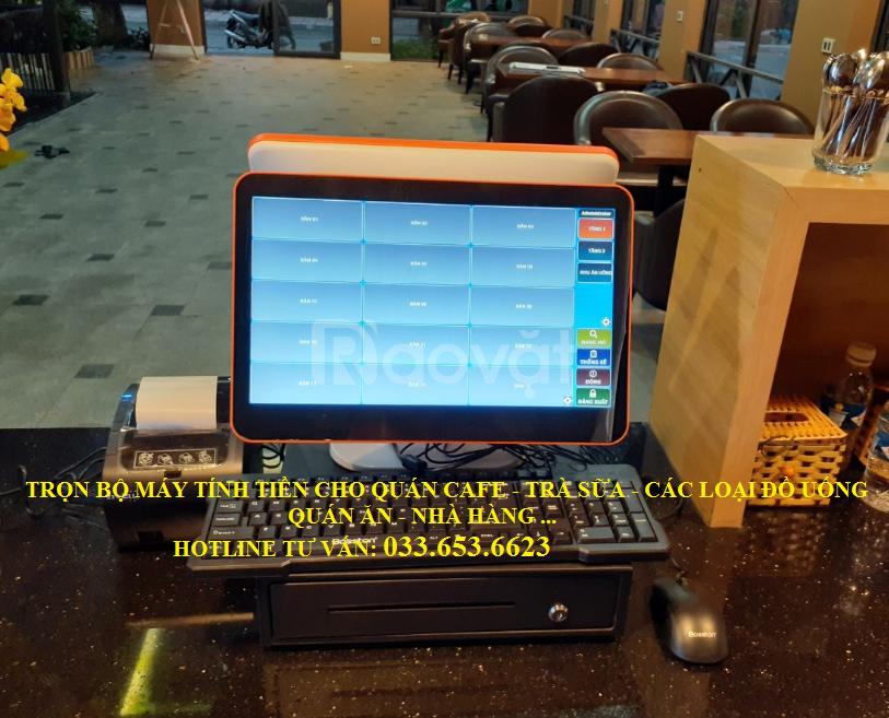 Bán máy pos tính tiền 2 màn hình cho quán cafe tại Hà Tĩnh