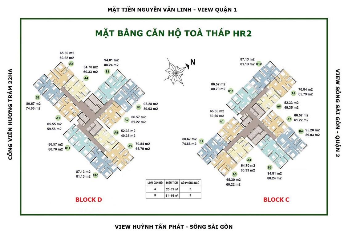 Bán căn hộ 3PN view Q1 block HR2 dự án Eco Green Q7