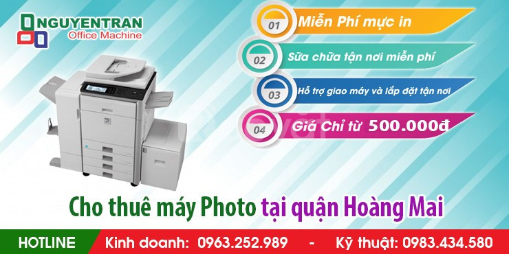Cho thuê máy Photocopy tại quận Hoàng Mai