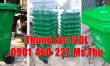 Thùng rác 120 lít bánh xe bằng nhựa, thùng rác 240l có bánh xe kéo