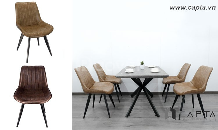 Ghế phòng ăn có nệm Lux sang trọng hiện đại cho căn hộ TpHCM