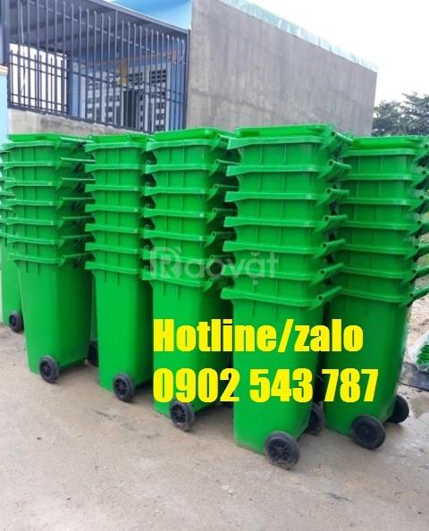 Thùng rác y tế 120l; thùng rác y tế 120 lít HDPE