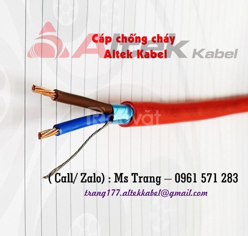 Cáp chống cháy, chống nhiễu 2C- tiêu chuẩn 60331