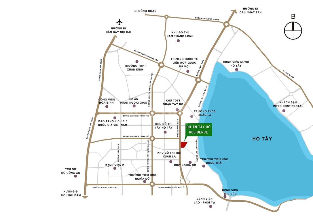 Biệt thự Tây Hồ Residence, lô góc 131.3m2