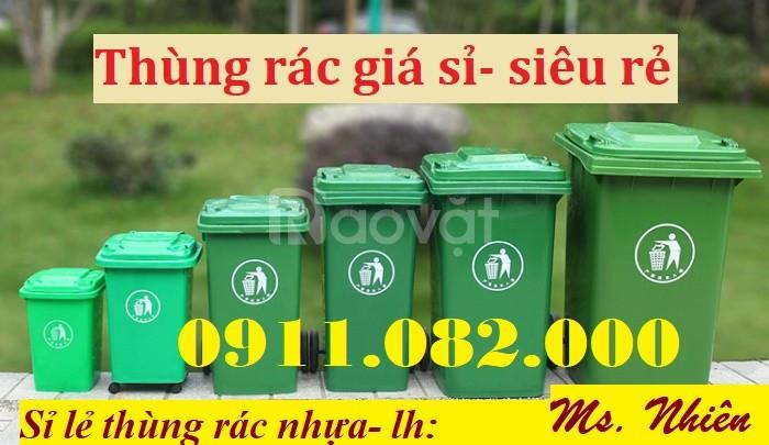 Cung cấp thùng rác 120L 240L 660L giá rẻ đại lý thùng rác nhựa