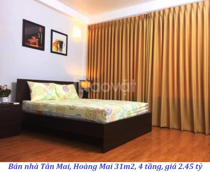 Bán nhà Tân Mai, Hoàng Mai 31m2, 4 tầng, giá 2.45 tỷ