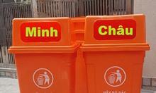 Thùng rác công cộng 90L, thùng rác nhựa 90L nắp hở