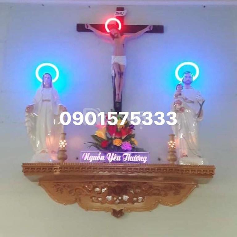 Mẫu bàn Thờ Công Giáo Thiên Chúa bằng gỗ đẹp hiện đại