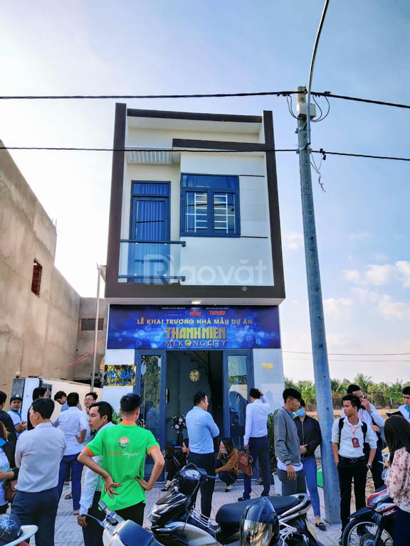 Bán gấp Shophouse mới xây mt QL, tặng nội thất sịn sò - 1tỷ19