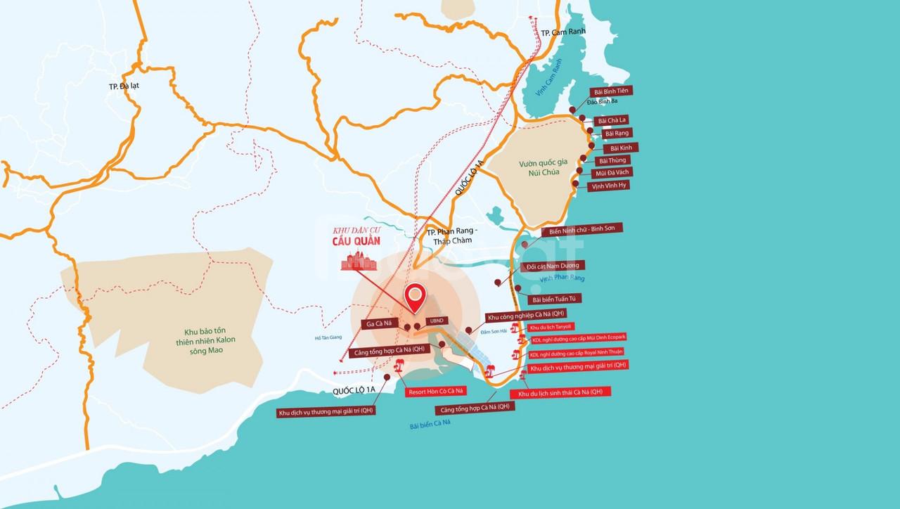 Đất nền ven biển Ninh Thuận - Khu dân cư Cầu Quằn tại Cà Ná