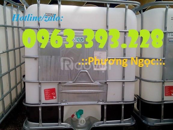 Tank nhựa 1000L, bồn nhựa đựng hóa chất 1 khối