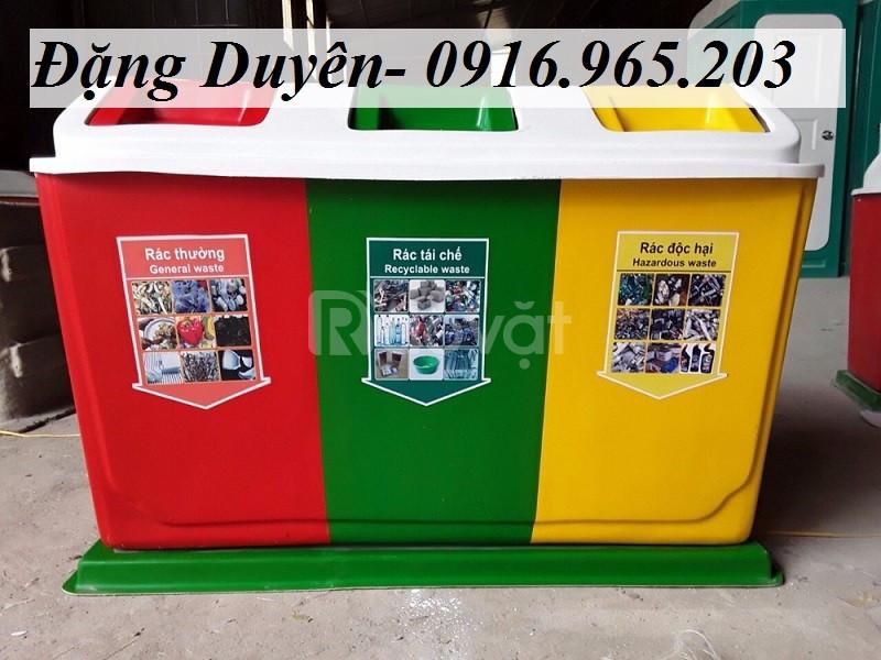 Giảm giá thùng rác 3 ngăn 3 màu chất lượng (ảnh 4)