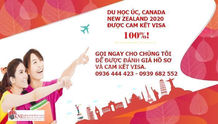 Chương trình du học Úc – New Zealand – Canada được cam kết visa