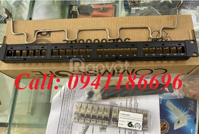 Thanh đấu nối patch panel COMMSCOPE 24 cổng cat5e UTP,1U