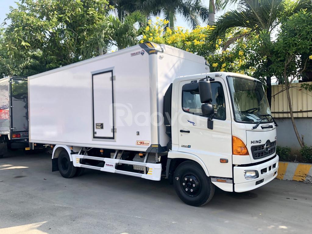 Xe tải Hino tấn, thùng bảo ôn 5m6.