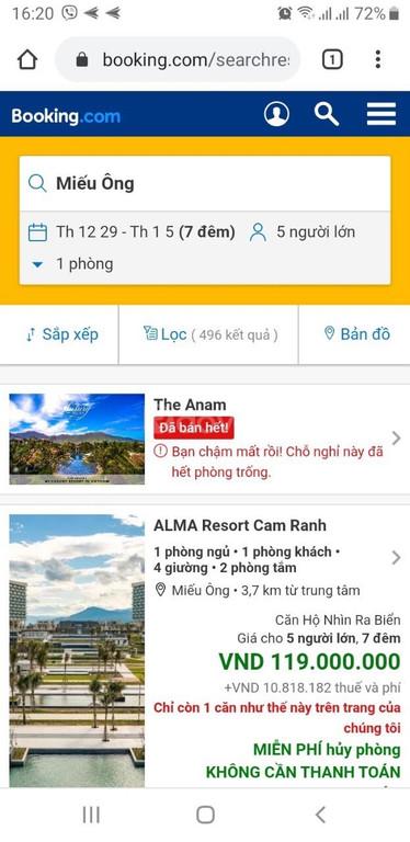 Bán gấp căn biệt thự tại Alma Resort Alma resort, Bãi dài, Cam Lâm
