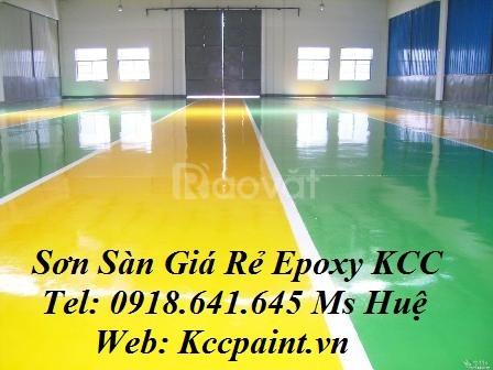 Sơn Epoxy kcc et5660 4427 màu xanh, et5660 1000 màu trắng