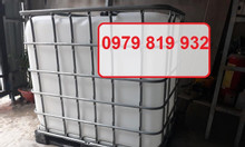 Cung cấp thùng nhựa 1 khối, bồn nhựa 1000l có khung sắt