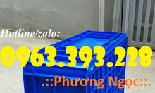 Thùng nhựa đặc HS003, thùng nhựa cao 19, thùng đặc chứa đồ