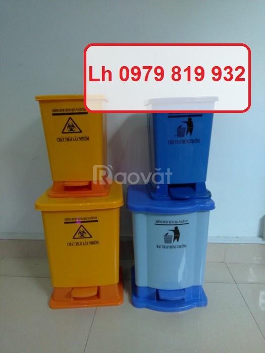 Cung cấp thùng rác đạp chân y tế 20l 30l