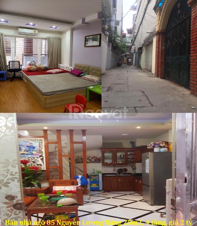Bán nhà ngõ 85 Nguyễn Lương Bằng 25m2, 4 tầng, giá 2 tỷ