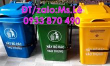 Thùng rác 60l nhựa HDPE quận 5,thùng rác 60 lít đạp chân quận Bình Tân